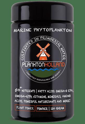 plankton pulver 120 gramm violettenglas Verpackung PlanktonHolland
