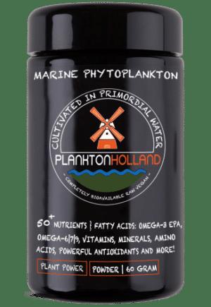 plankton pulver 60 gramm violettenglas Verpackung PlanktonHolland